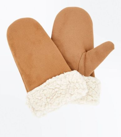 light-brown-faux-shearling-mittens